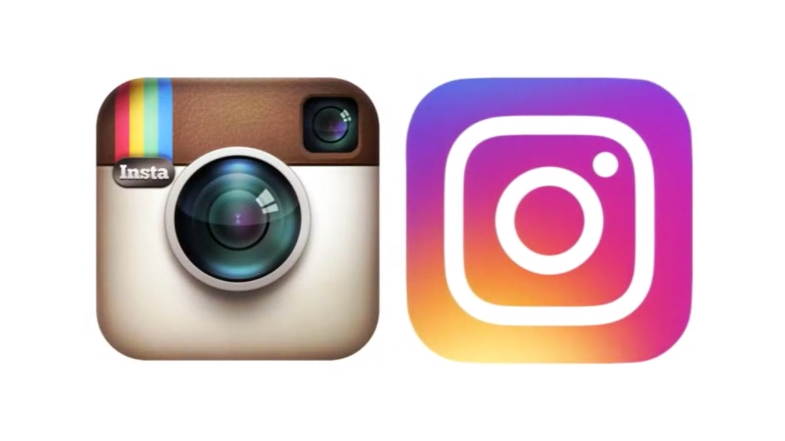 The old instagram on the left, and the new on the right