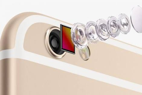 An inside view of an IPhone camera
