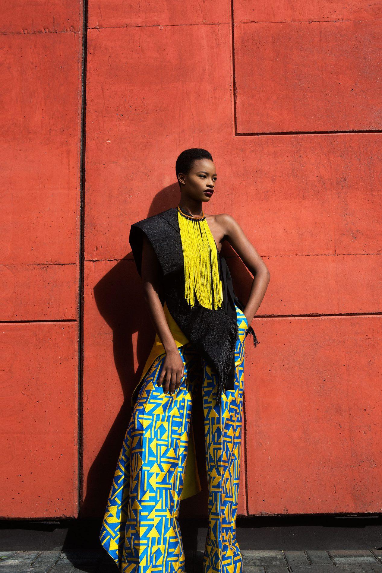 Mayowa Nicholas wearing Ladunni Lambo, Washington Roberts, Sophie Zinga