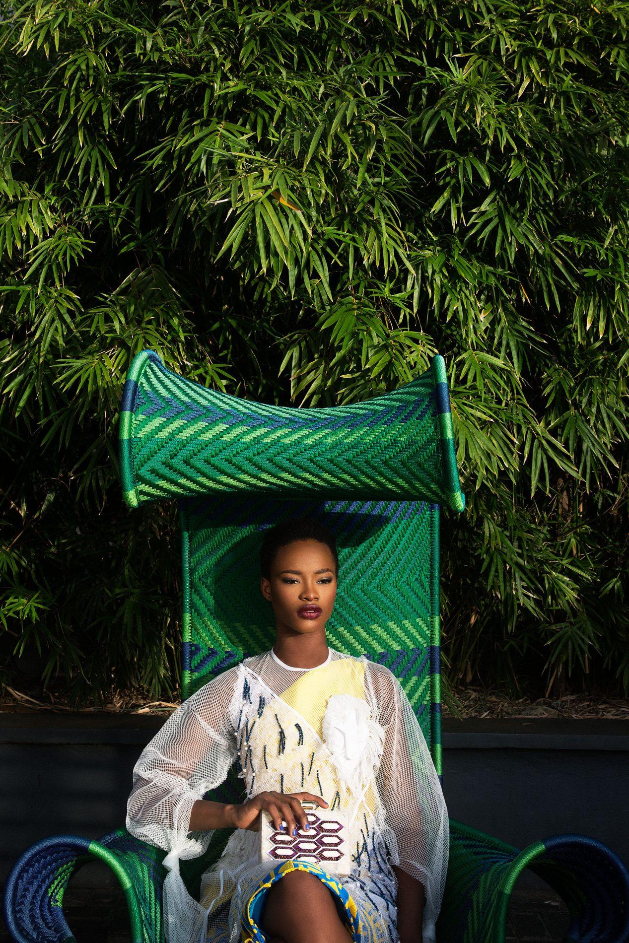 Mayowa Nicholas wearing Washington Roberts, Nkwo, Lolita Lorenzo