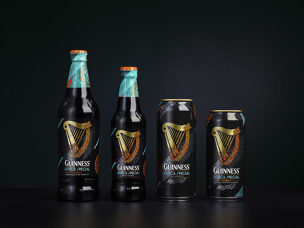 Guinness African Special, product wrap showing African print design // Source: Designbridge.com