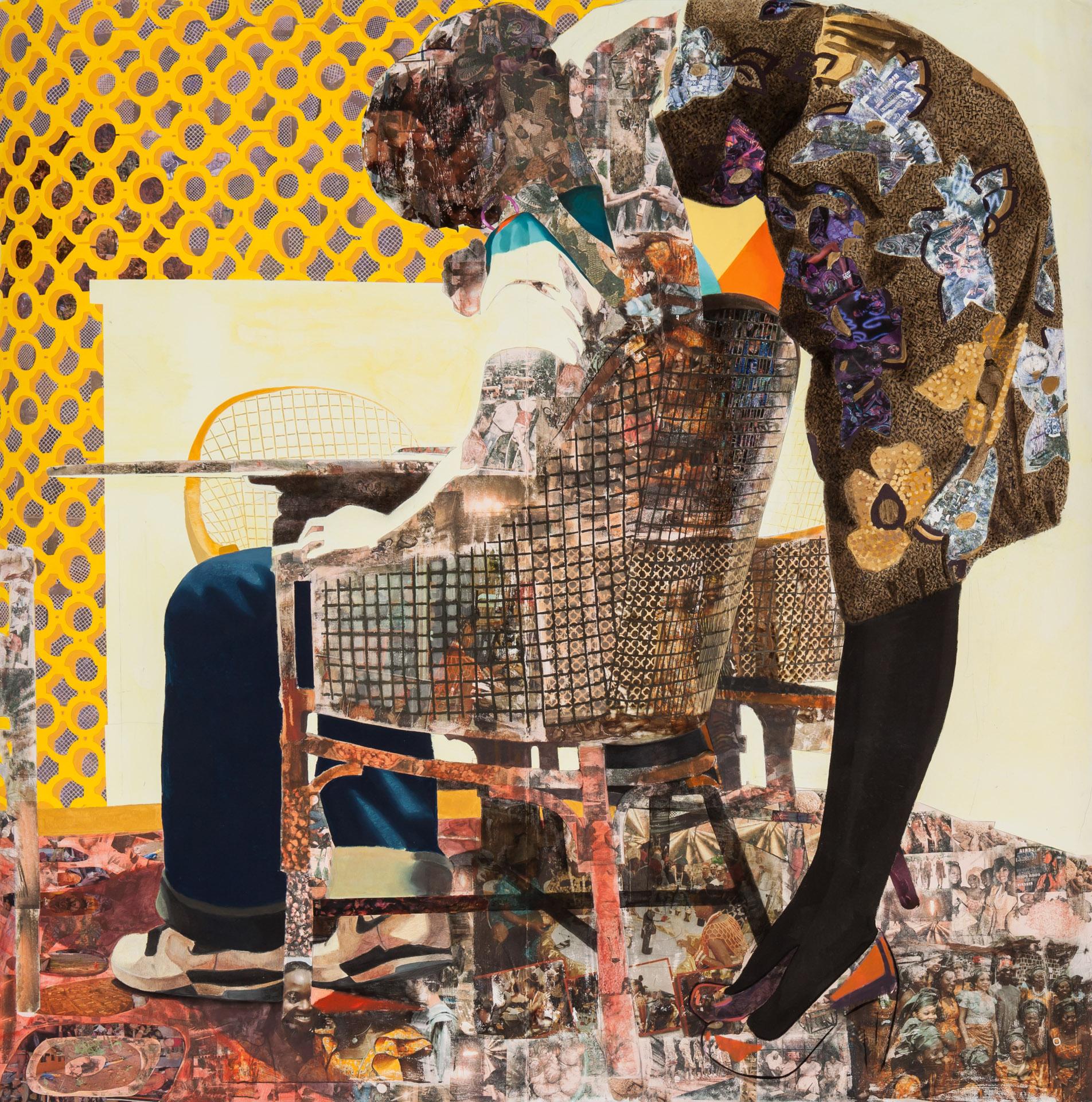 """Njideka Akunyili's work """"Thing around your neck"""" (2011)"""