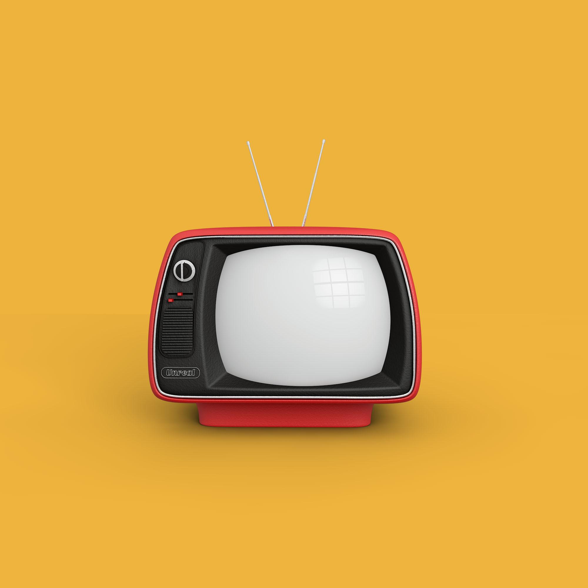 Retro Television Set // Source:turbosquid.com