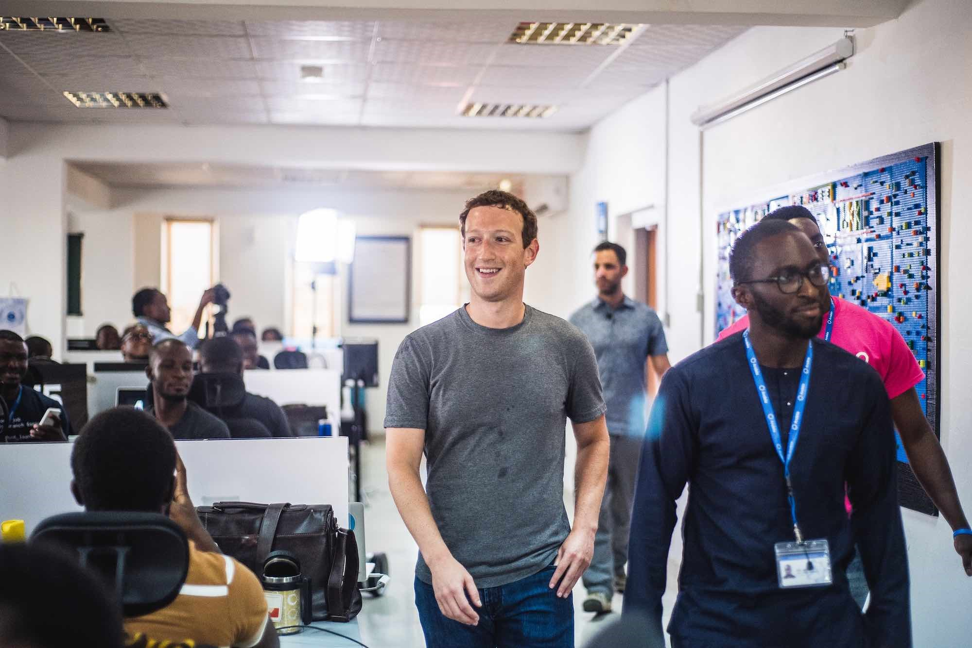 Founder of facebook, Mark Zuckerberg in Nigeria
