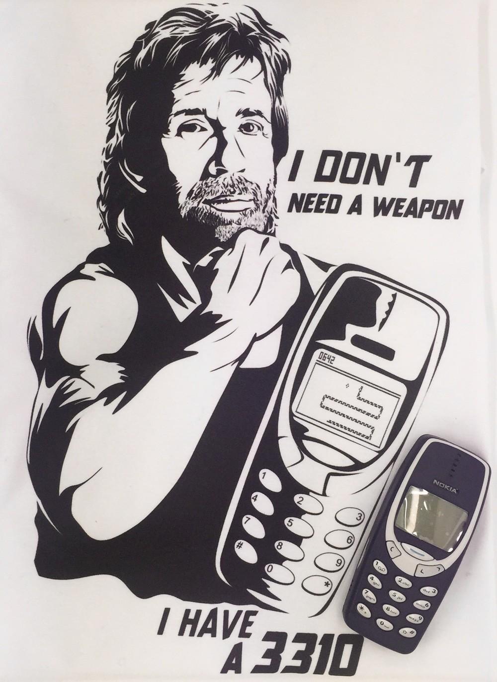 Funny Meme showing Nokia Physical Strength Via 9gag