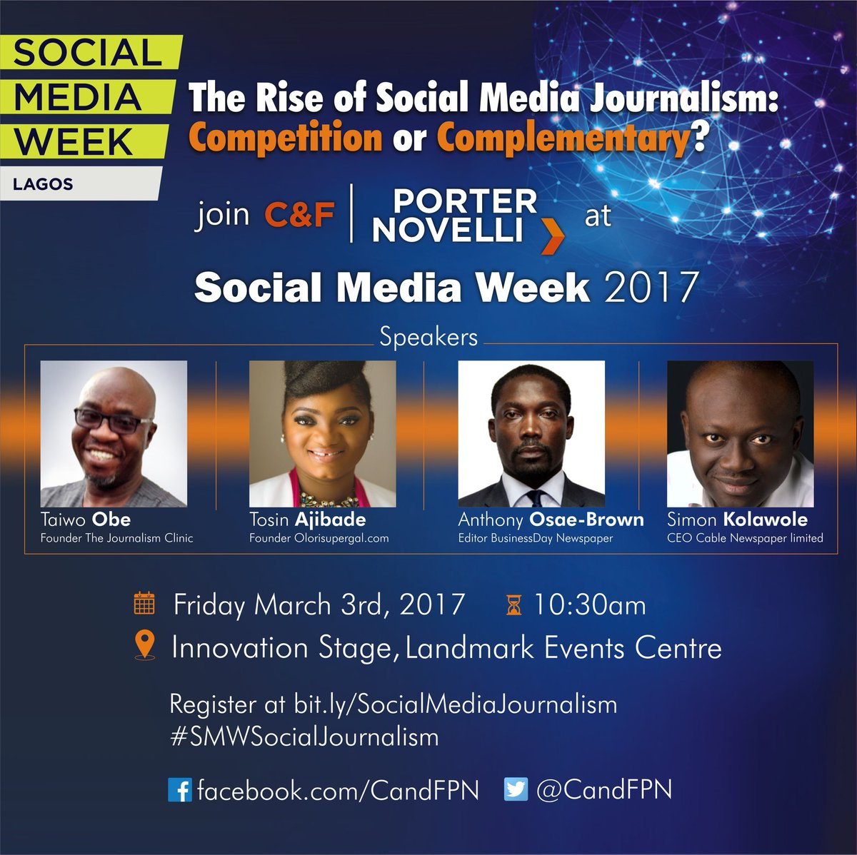 A SOCIAL MEDIA WEEK 2017 SESSION