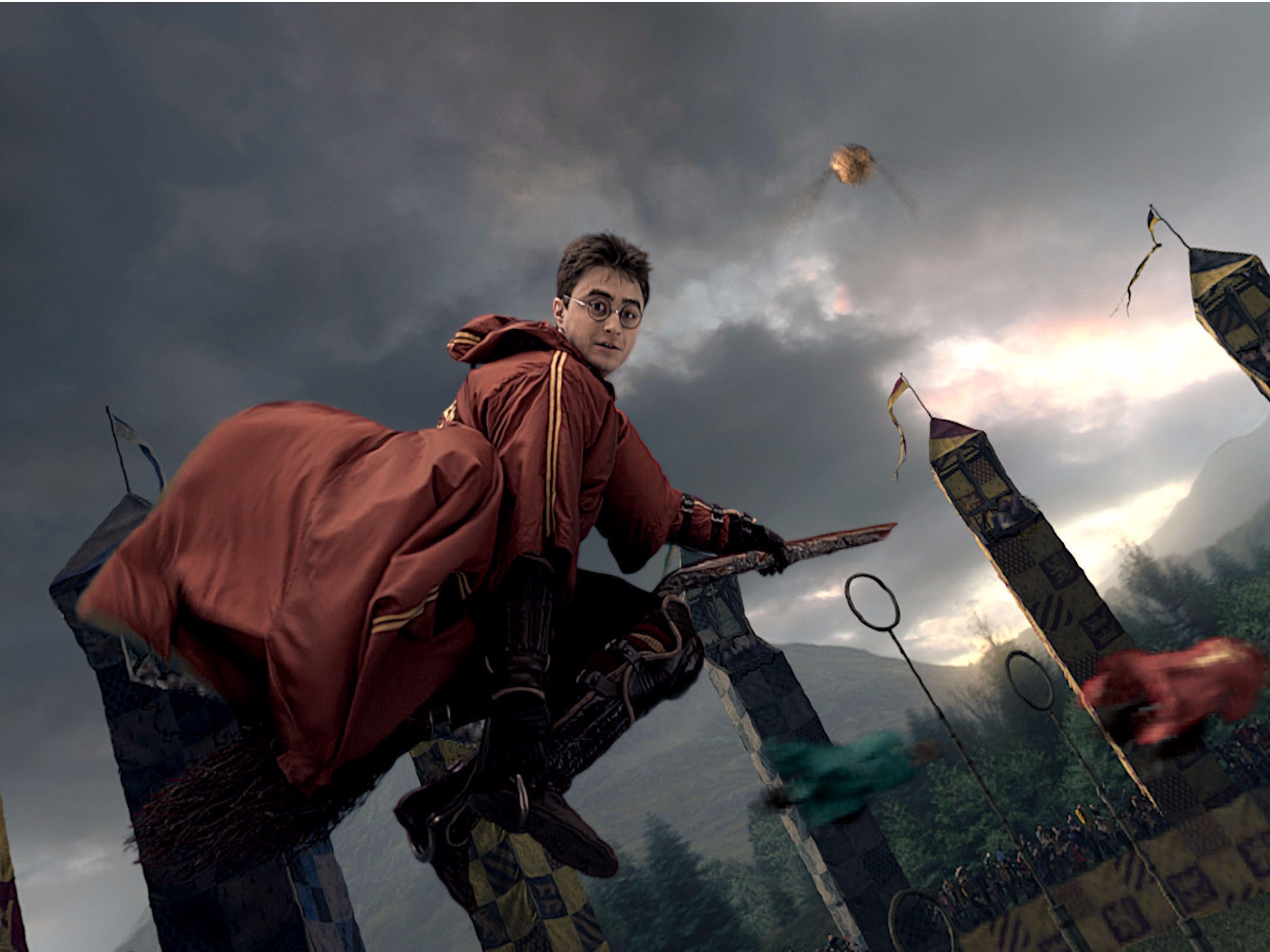 Harry Potter Playing quidditch on a Wizard broom // Photo: thisisinsider.com