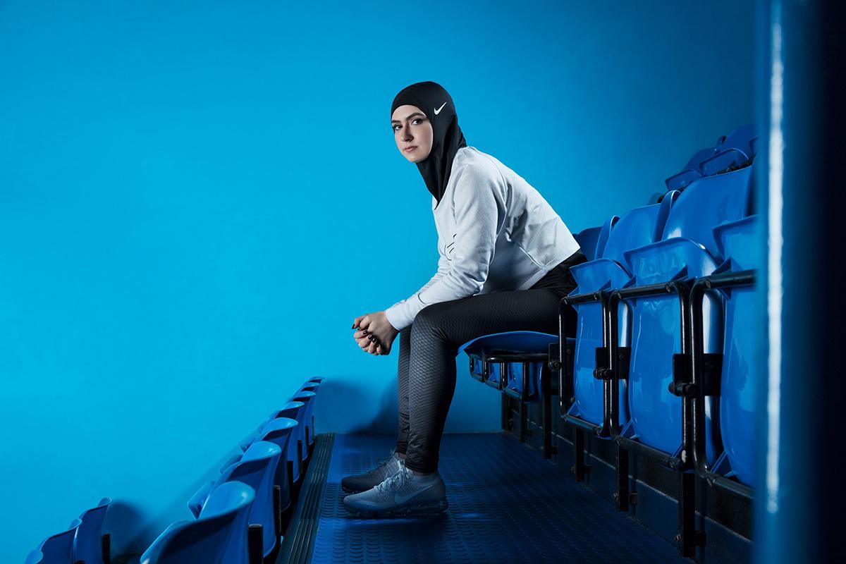 Nike Pro Hijab // Photo via Mashable
