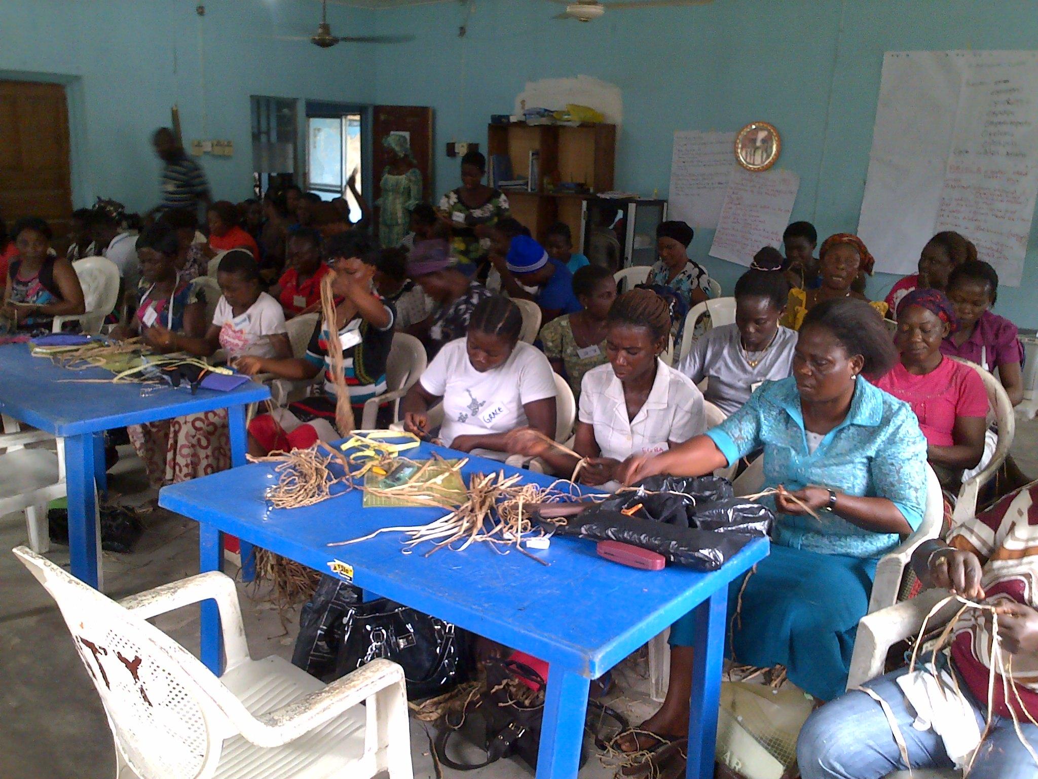 Training Session for community Members, Niger Delta, Nigeria // Photo via mitimeth.com