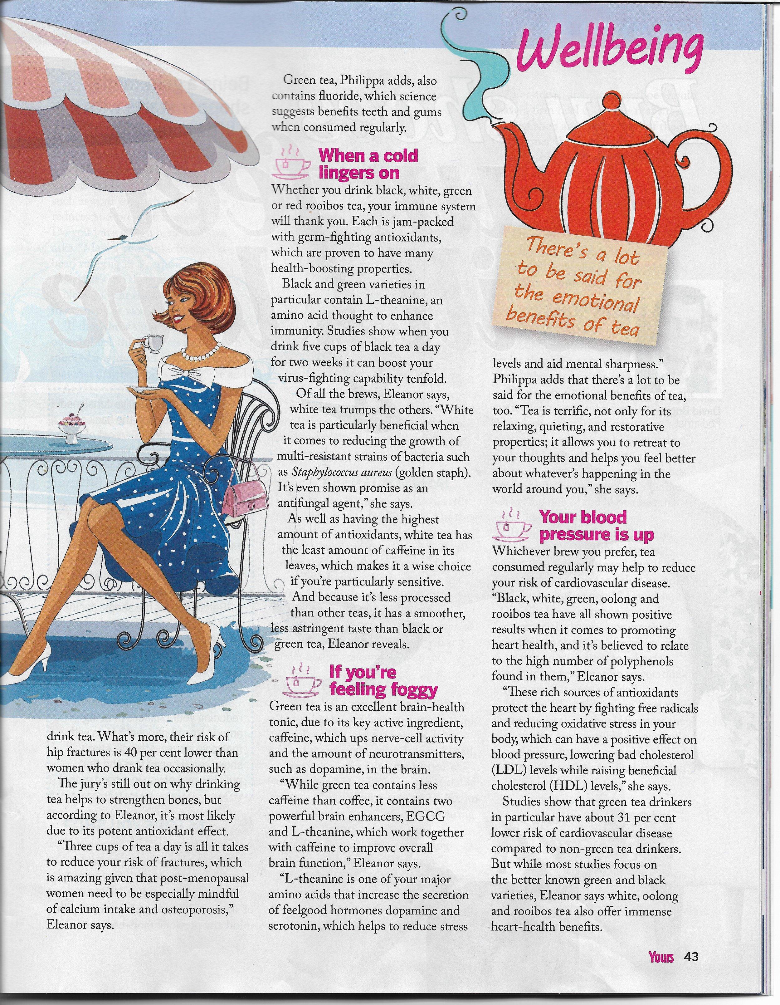Eleanor Elle Eastwood Naturopath Yours Mag Tea Feature