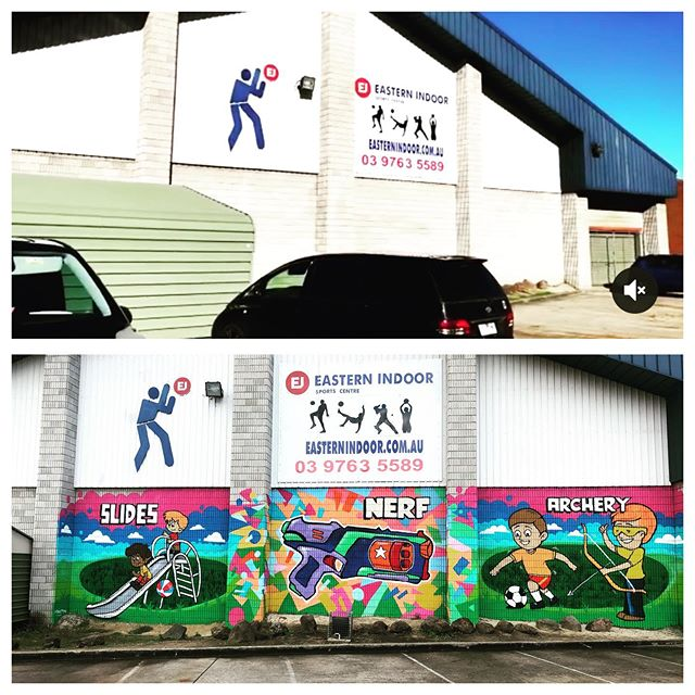 We got a nice little facelift 🎨  Turning heads on Ferntree Gully Rd 🚗  #slidesplaycentre #eisc #partiesknox
