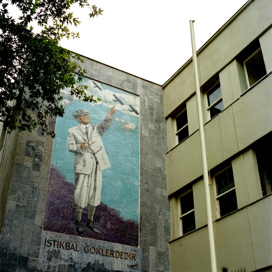 Mural on a wall in Ankara, Turkey