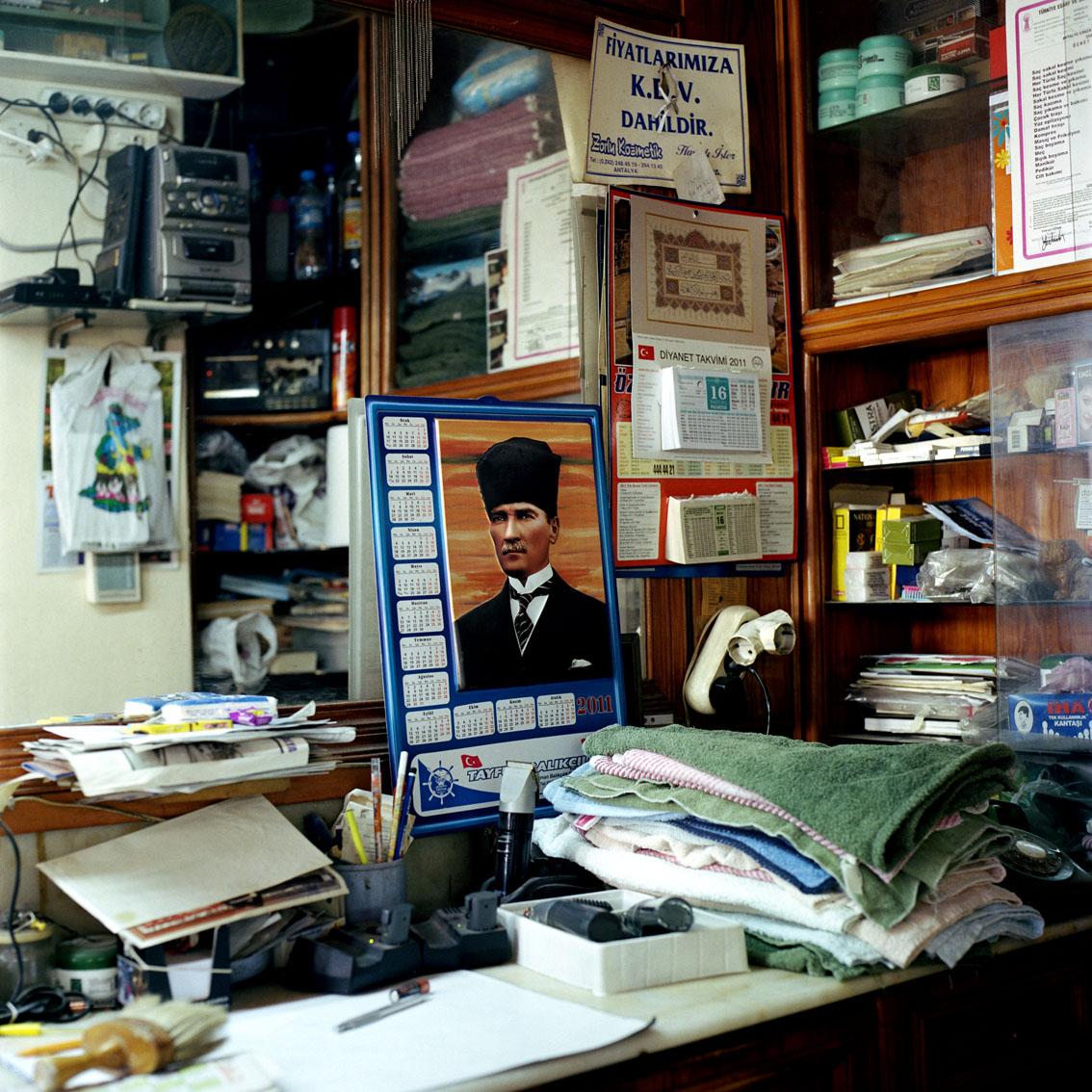 Barber shop in Antalya, Turkey