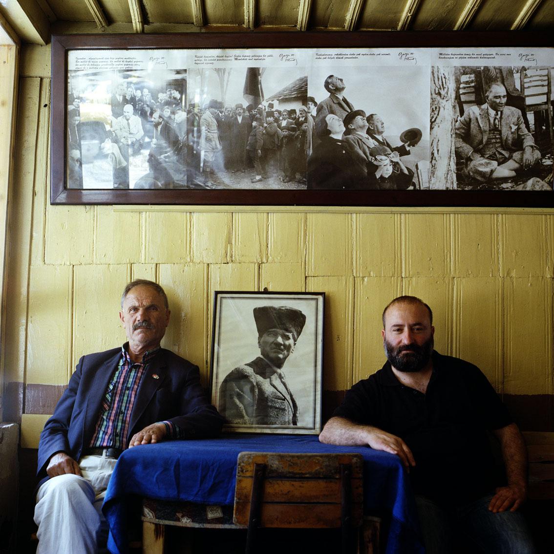 Coffee house in the Black Sea town of Macka in Turkey