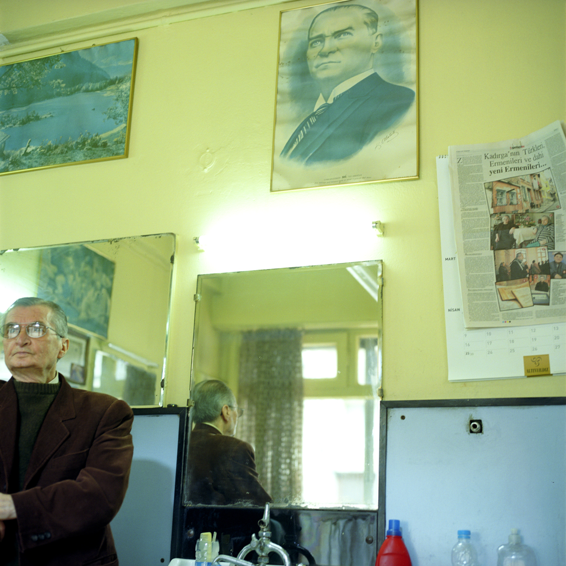 Barber shop in Istanbul, Turkey