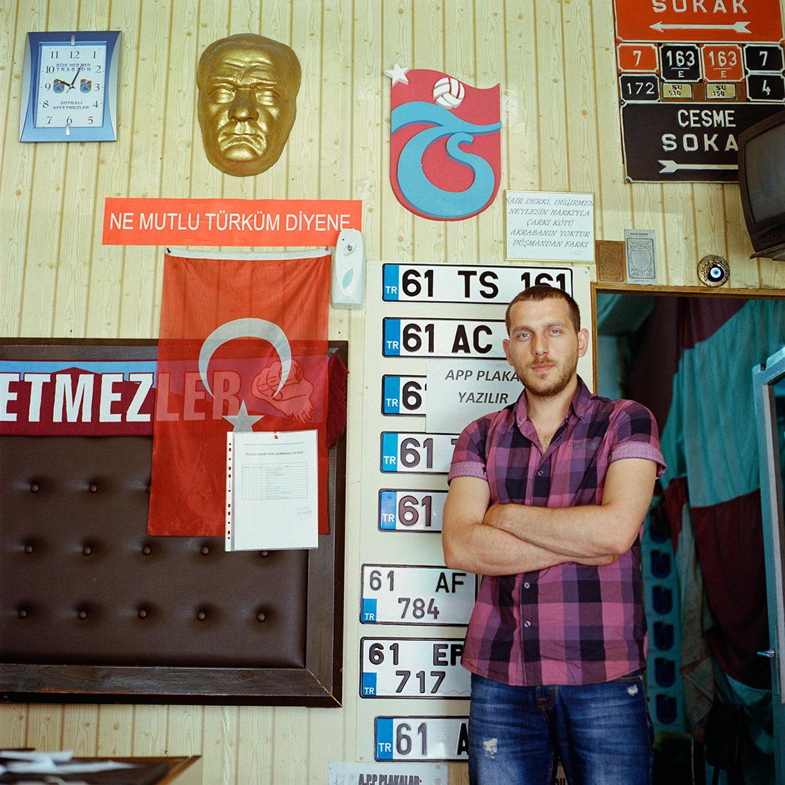 Car registration shop in Trabzon, Turkey