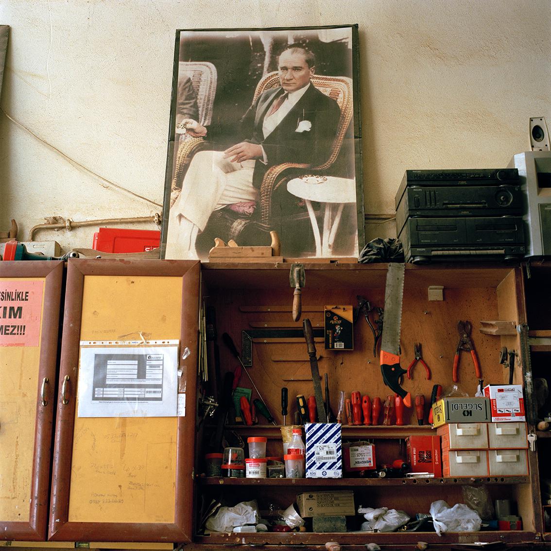 Carpenter's workshop in Istanbul, Turkey