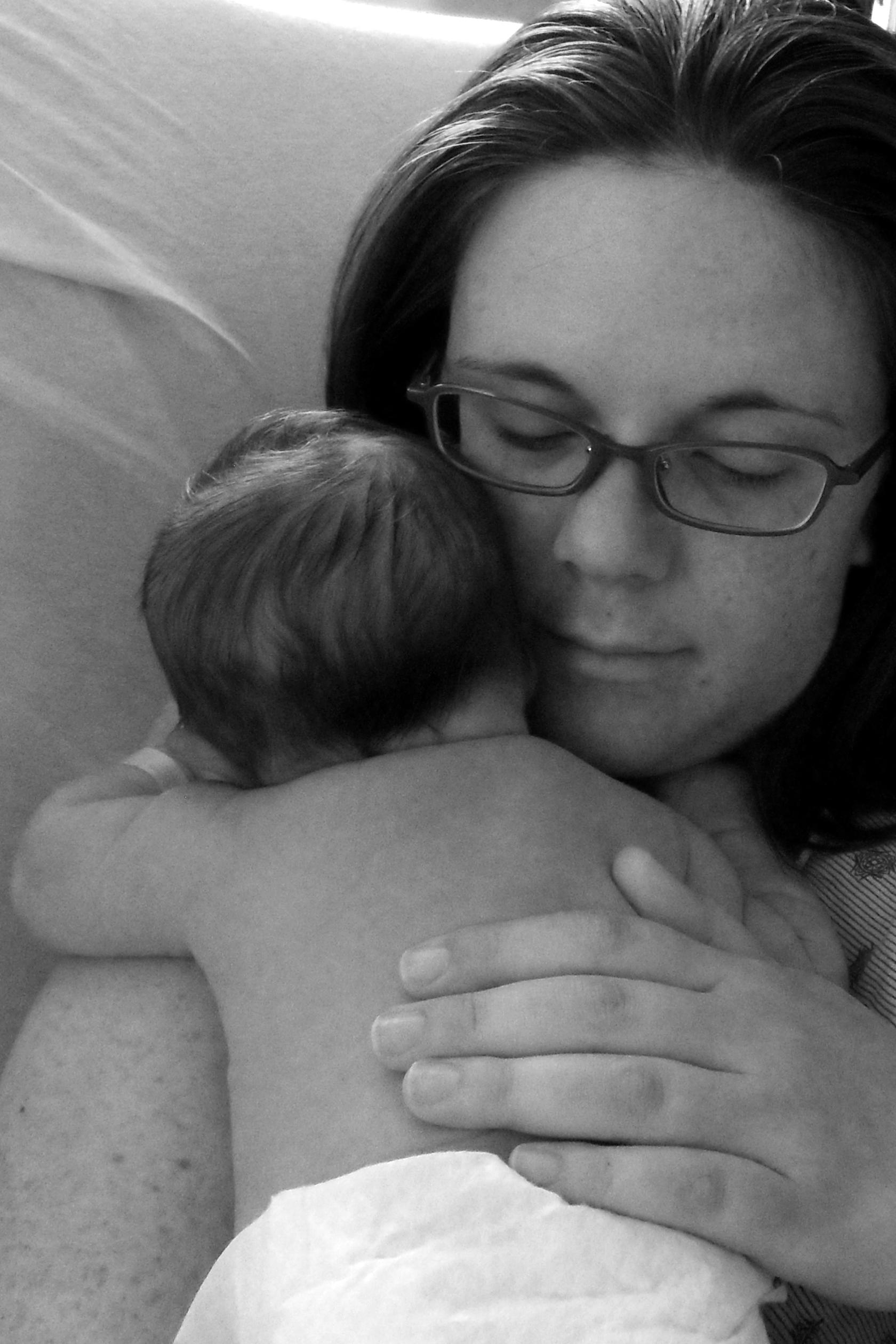 Mama and Baby BW