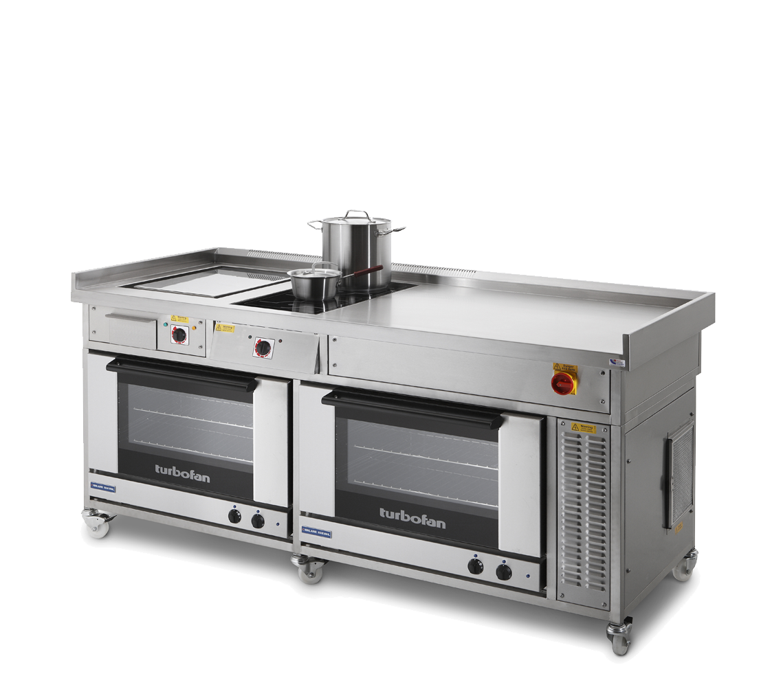 commercial induction range with convection oven