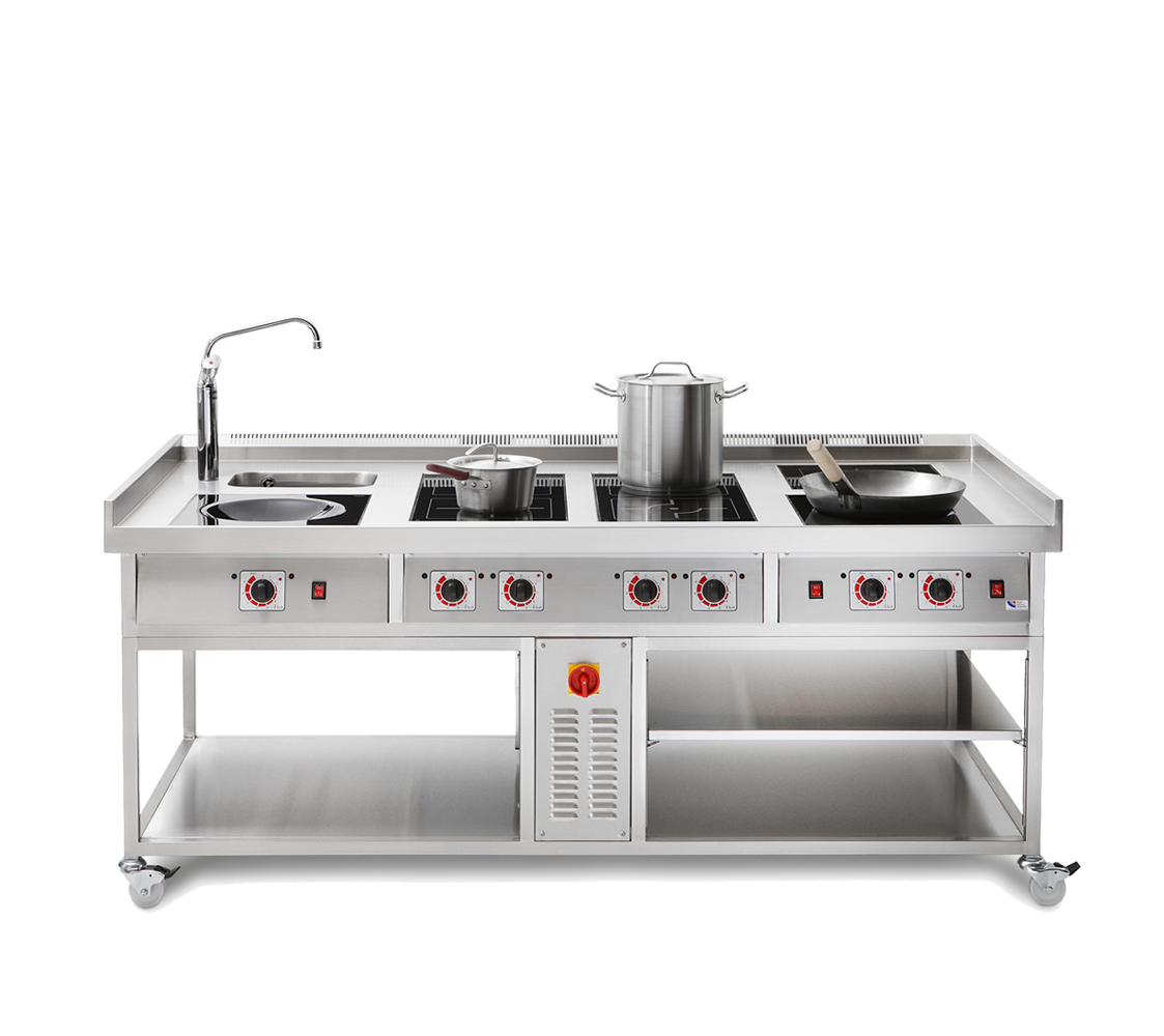 commercial wok induction cooker range