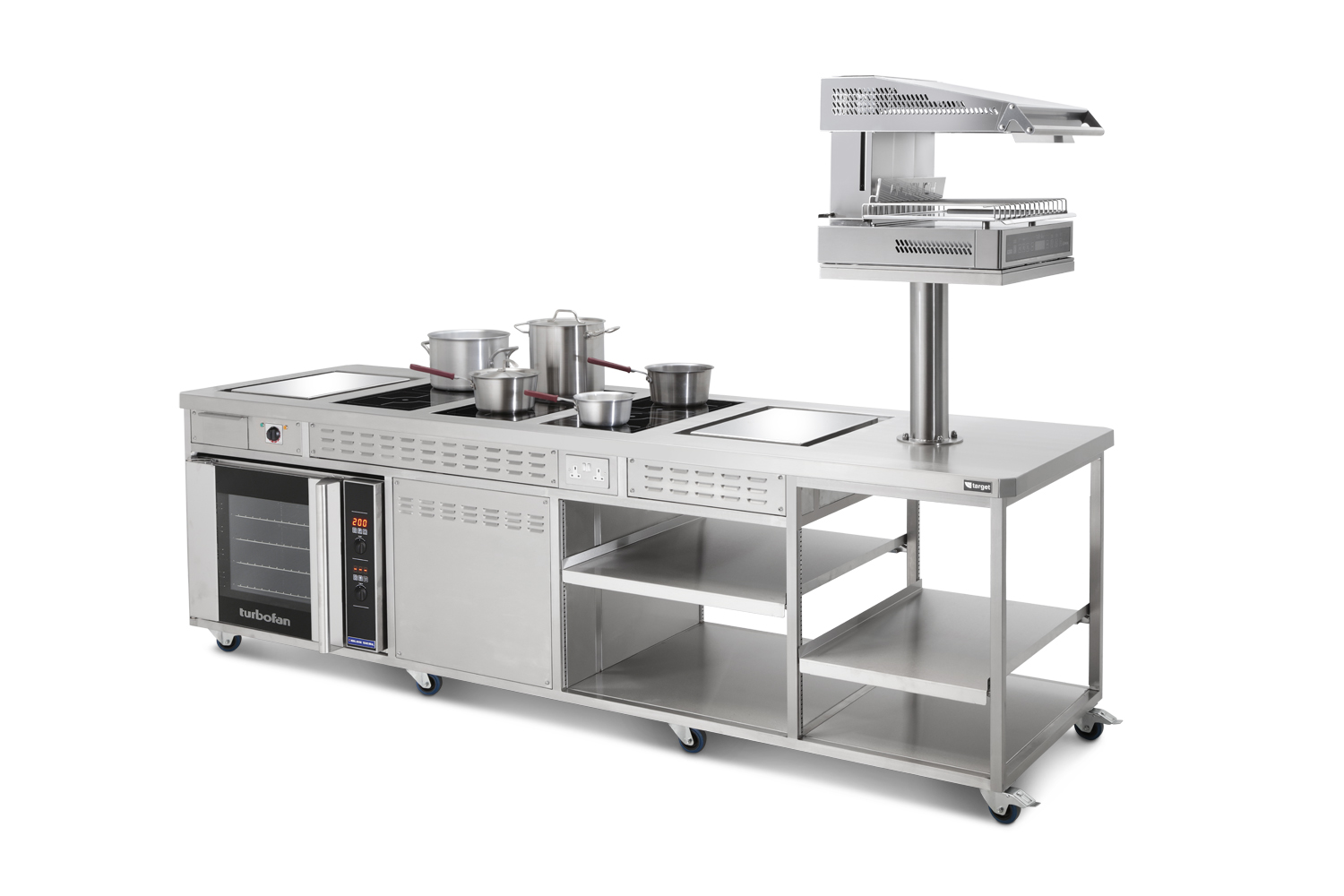 Large centre island unit grill right with pans.jpg