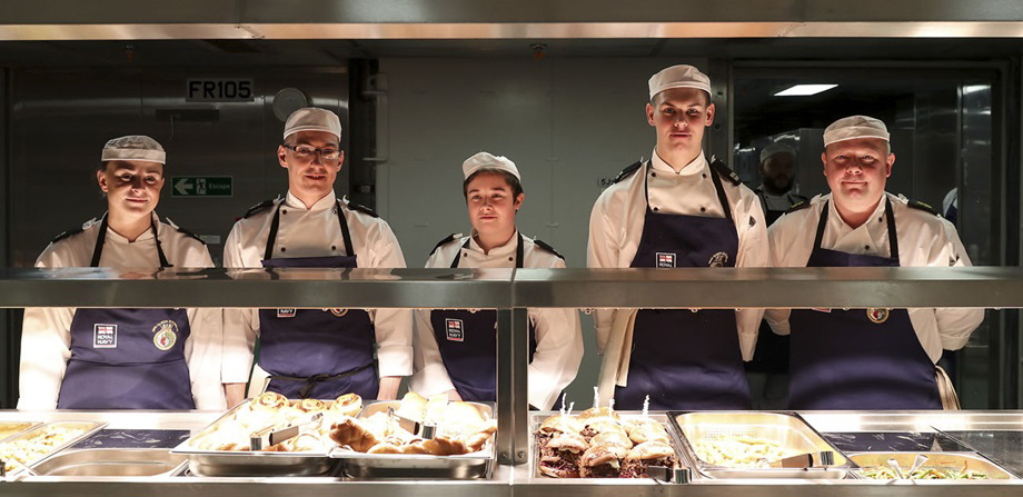 Naval chefs ready for action on board HMS Queen Elizabeth