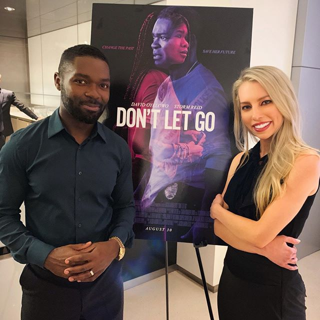 #DontLetGo is in theaters THIS FRIDAY! @davidoyelowo it is clear that you have been given a gift from God. From this mesmerizing performance to producing (with your impressive wife,) your talent is endless. Elated for the future!