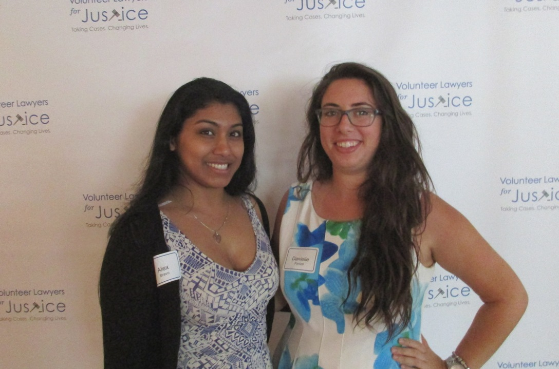 Danielle and Alex attend VLJ's Summer Soiree fundraising event with other young professionals.