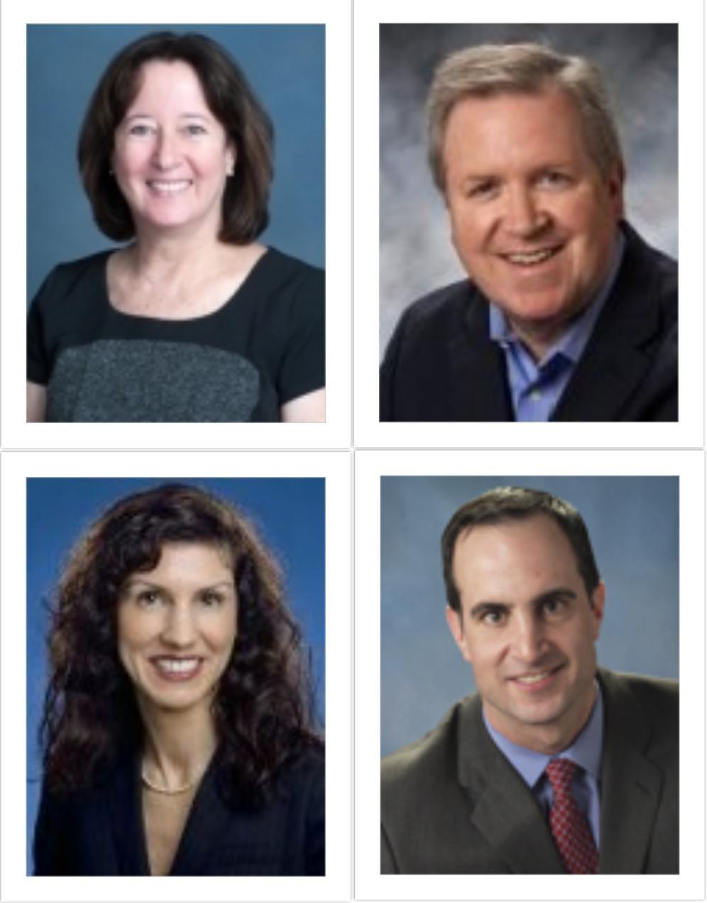 Top Left: Patricia Costello; Top Right: William Krovatin; Bottom Left: Mary Frances Palisano; Bottom Right: Geoffrey Rosamond