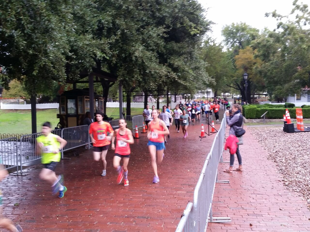 The 5K takes to the course.