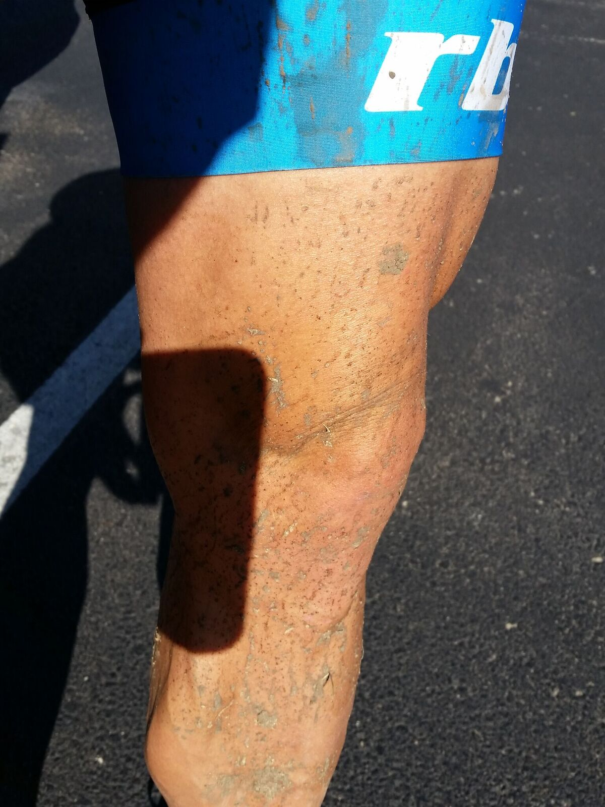 90% of the course was dry, but where there was mud, there was mud.