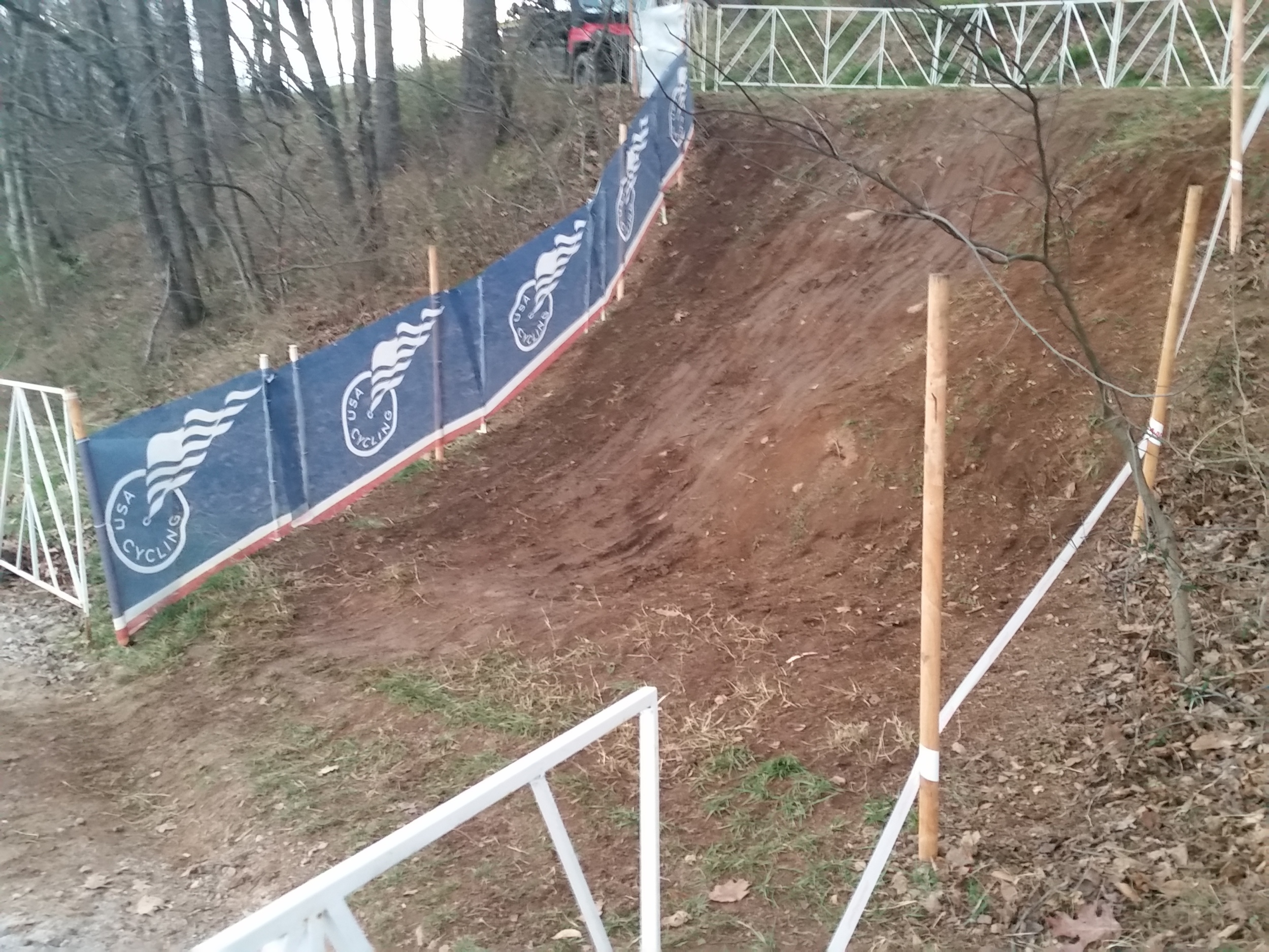 The drop right before the Kask Flyover, trust me, steeper than it looks