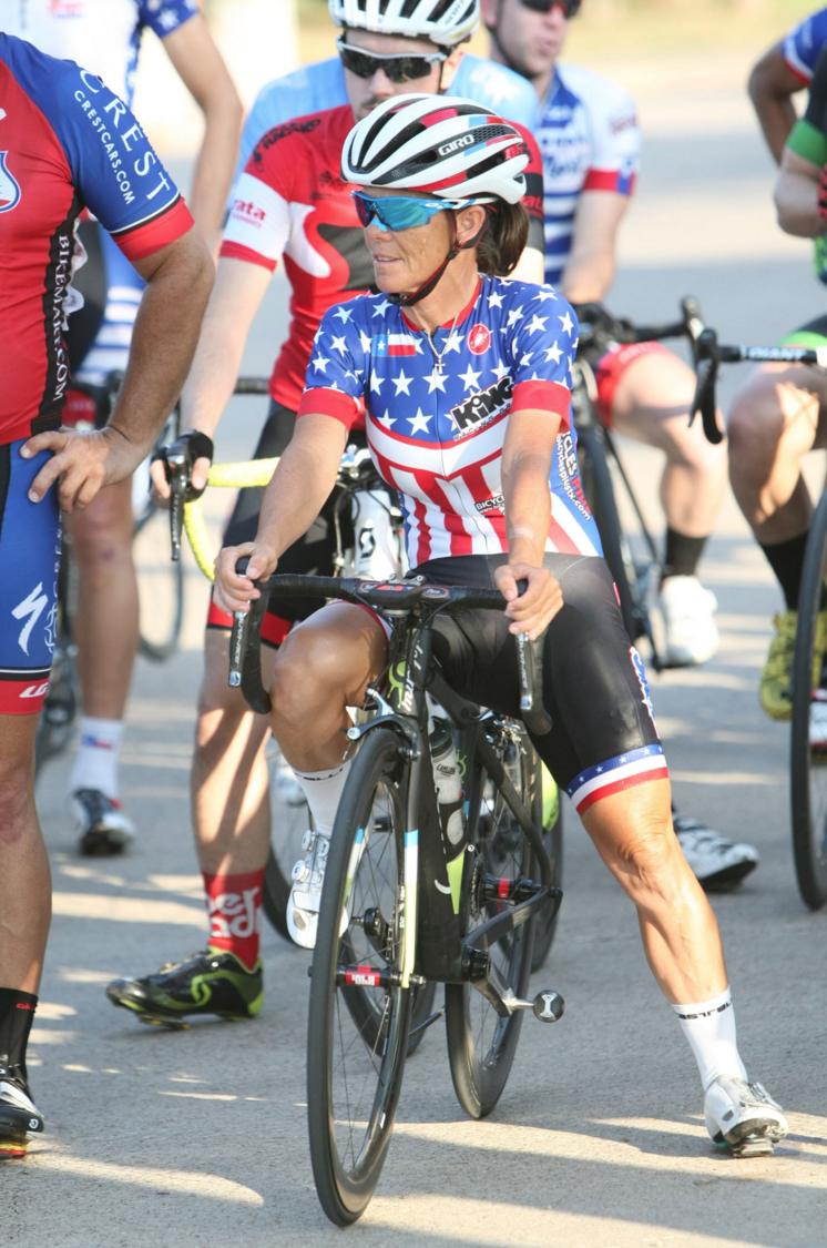 The one, the only Ginny King. National Champion and Mama Bear of Dallas cycling. Photo by Chris McGathey for D Magazine's gallery of images on the Fair Park races.  Click here to check out the gallery.