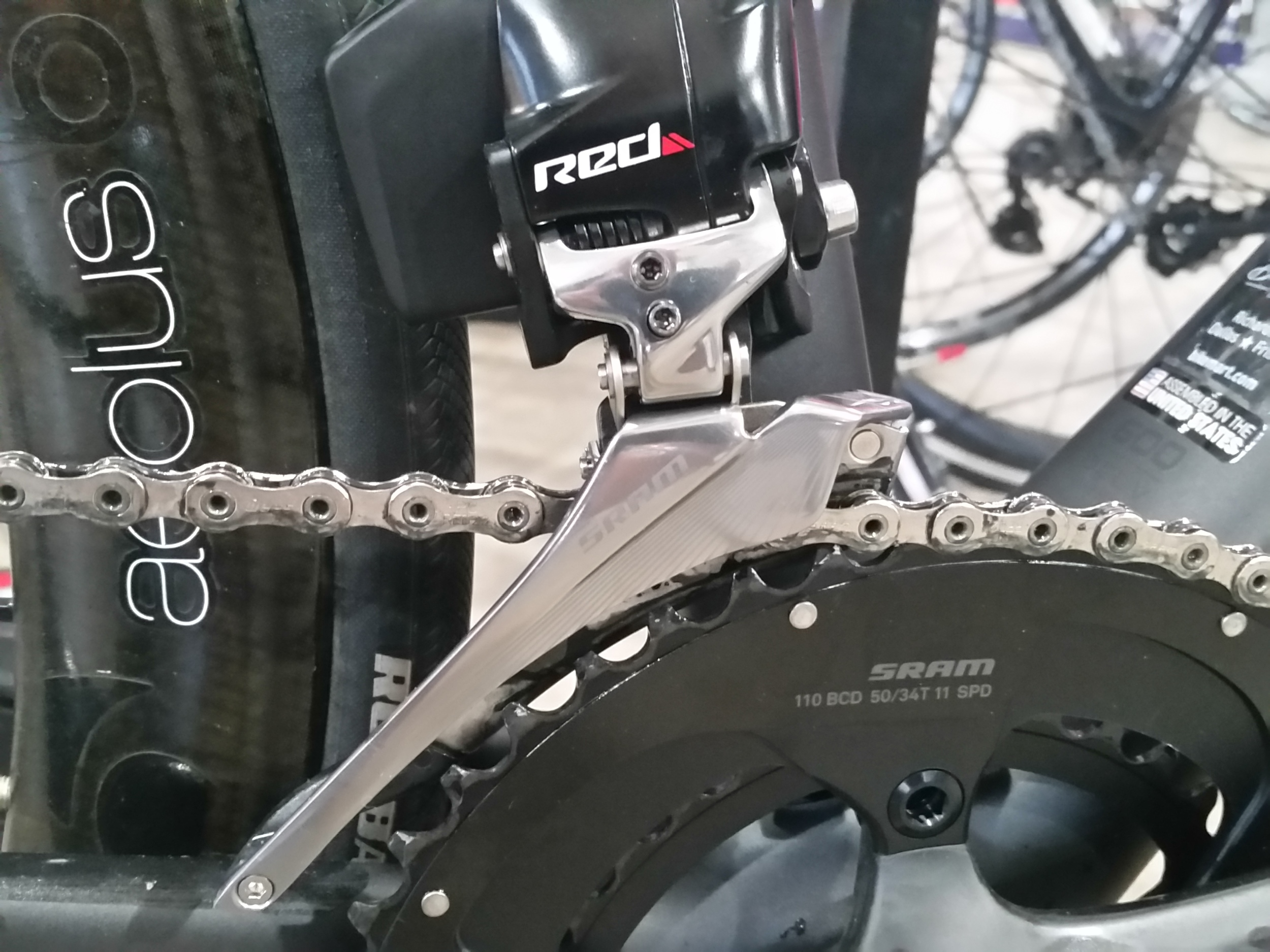 Front Derailleur. Notice the battery is the same, they can be swapped if one runs out of juice.