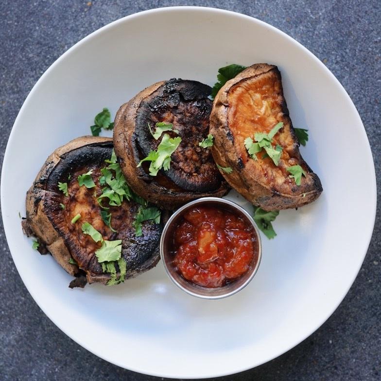 Roasted Sweet Potatoes - with tamarind pepper jam