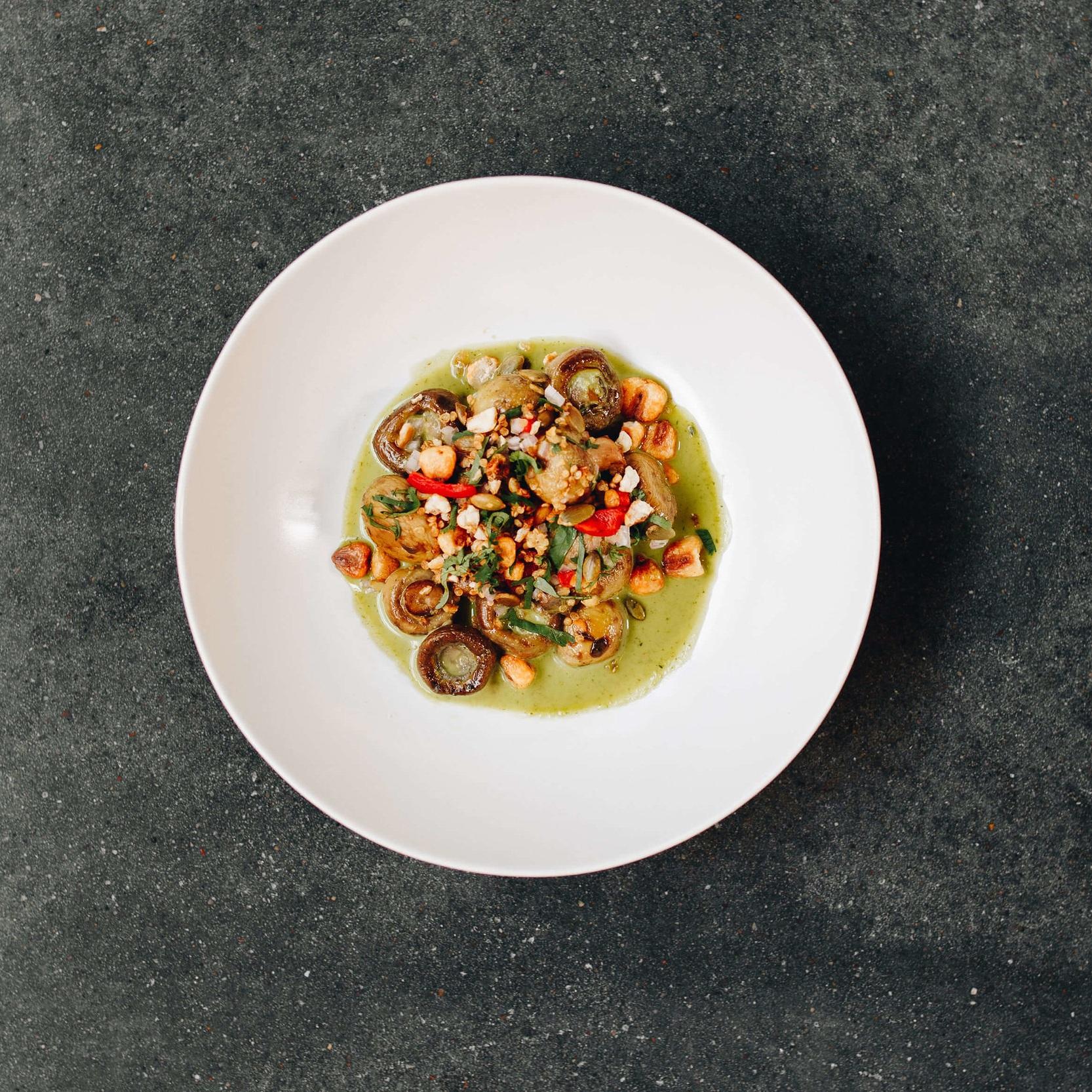 Mushroom Ceviche - with quinoa crunch