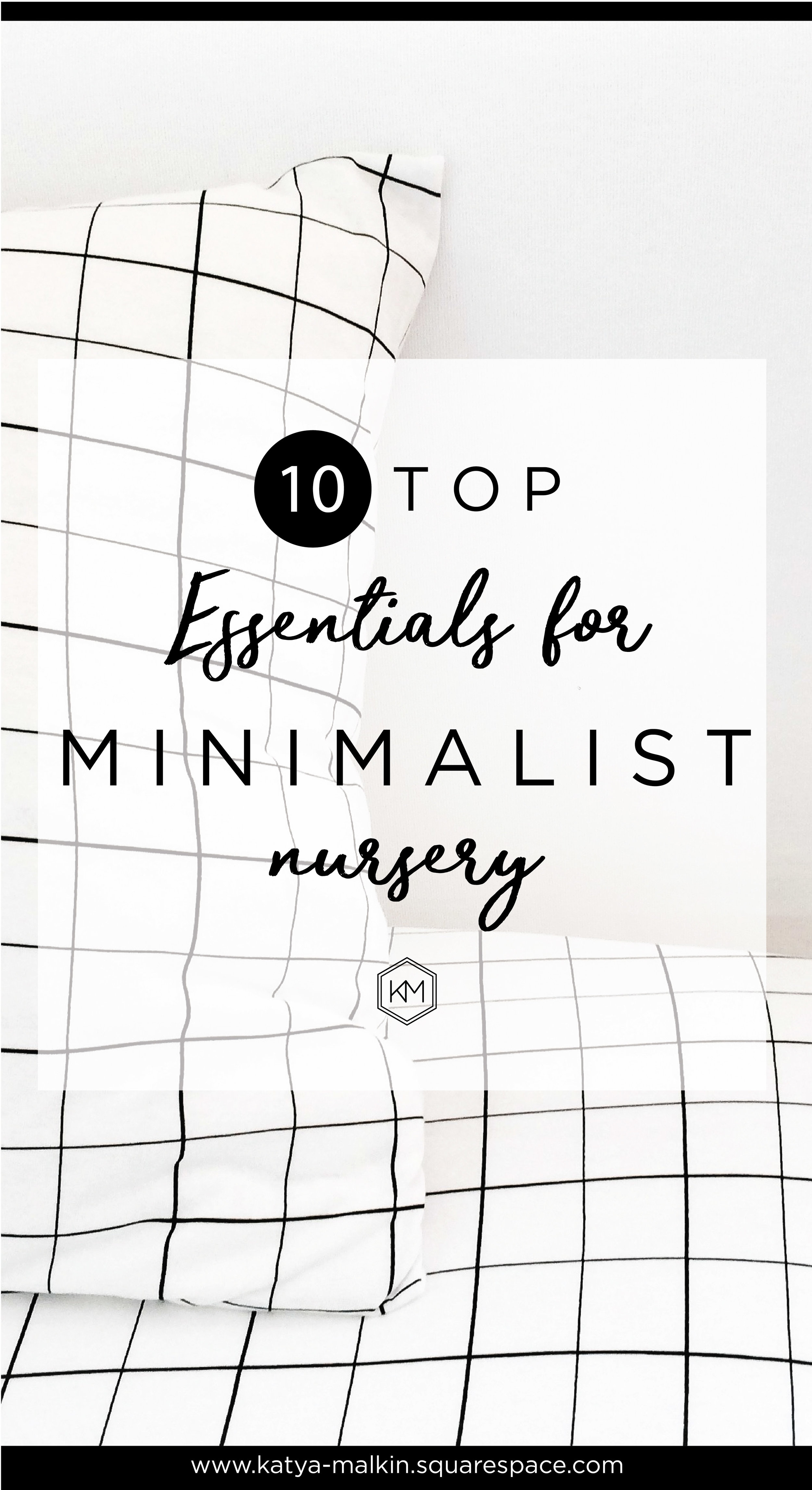 Minimalist nursery by Katya Malkin