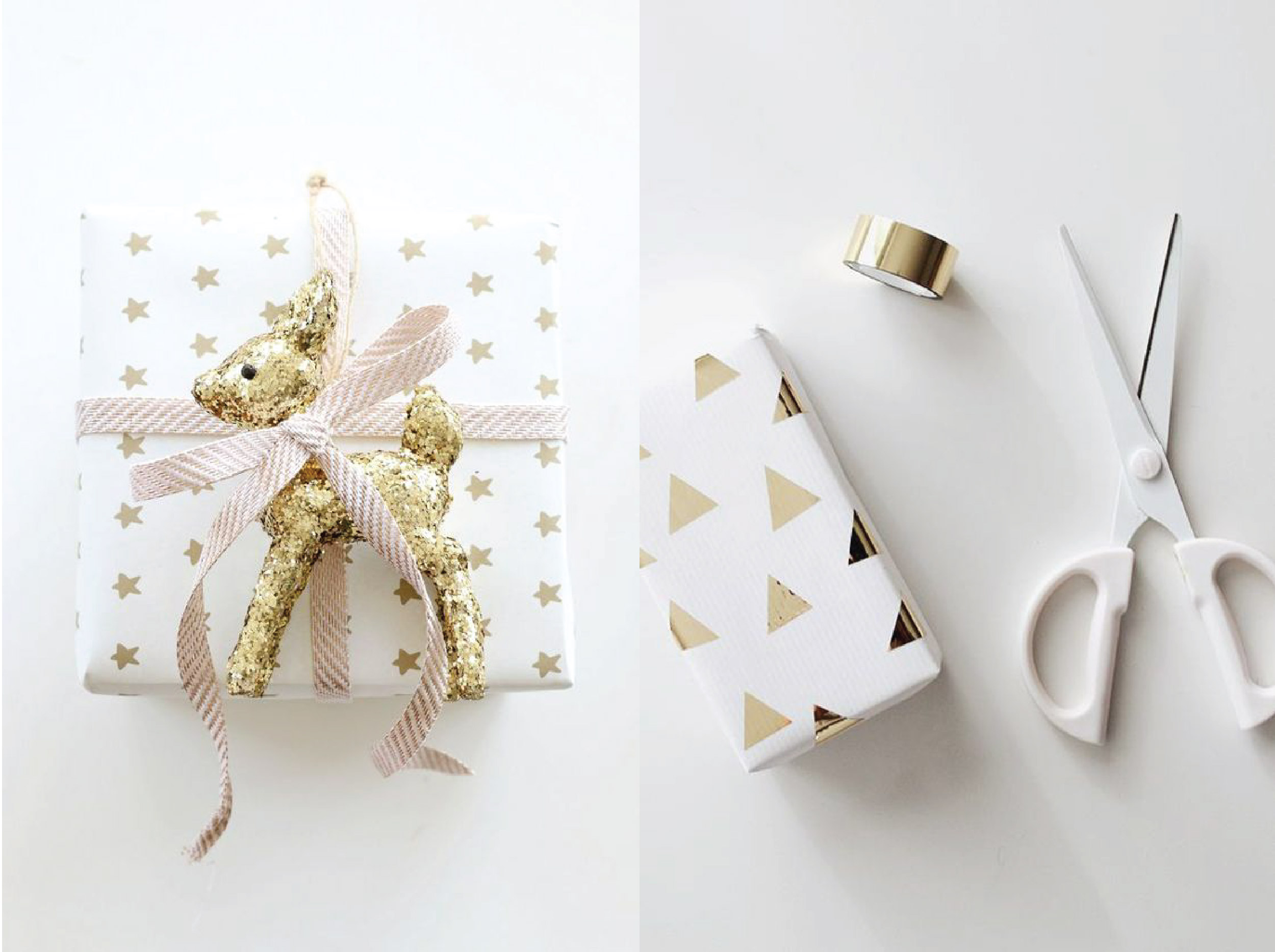 Gold Xmas Gift Wrapping Ideas