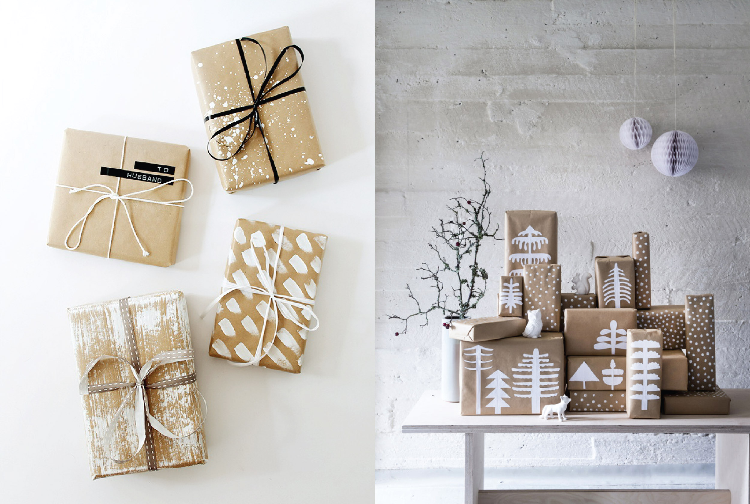 Scandinavian Christmas Gift Wrapping Ideas