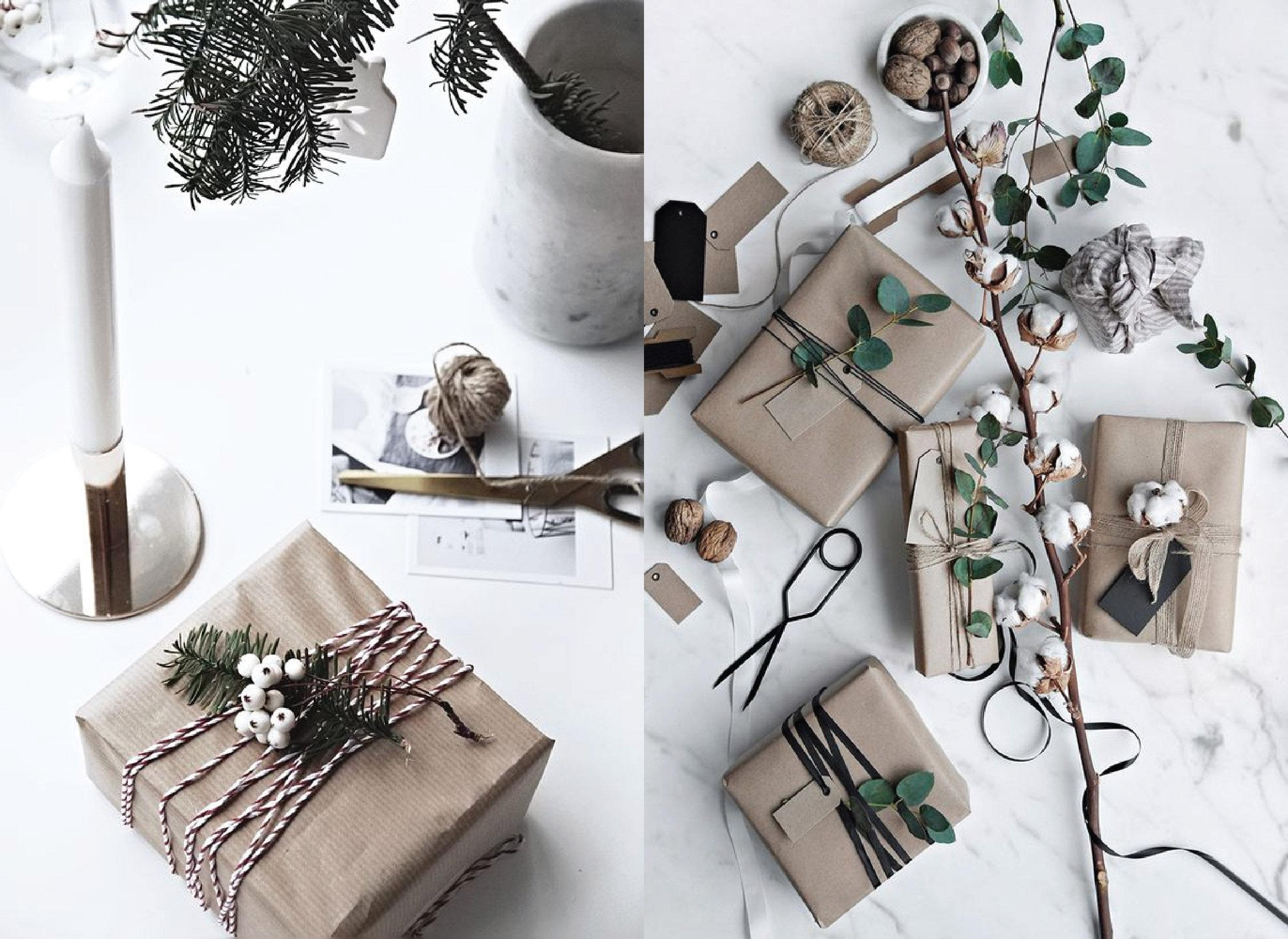 DIY Scandinavian Christmas Gift Wrapping