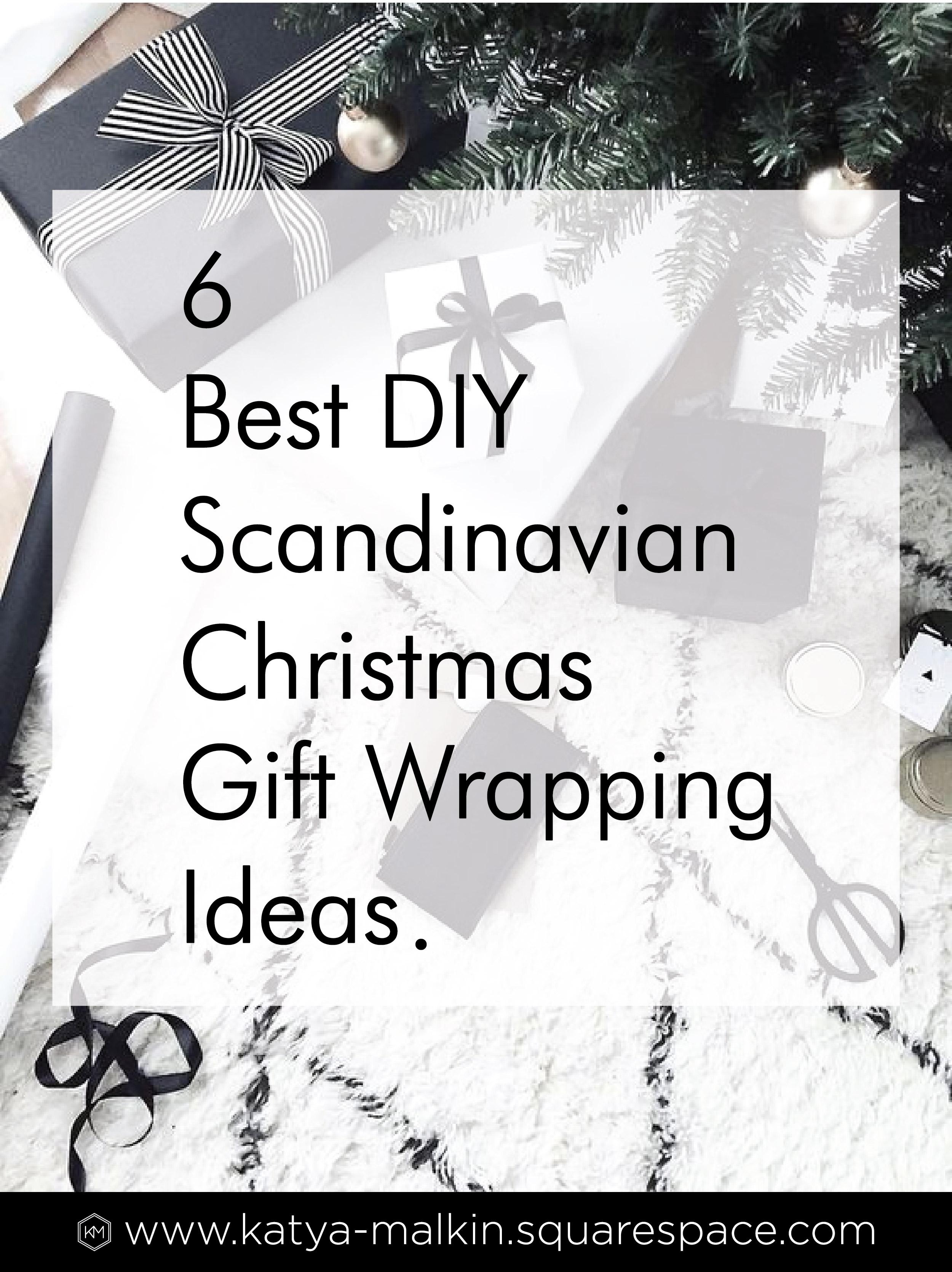 DIY Scandinavian Christmas Gift Wrapping Ideas