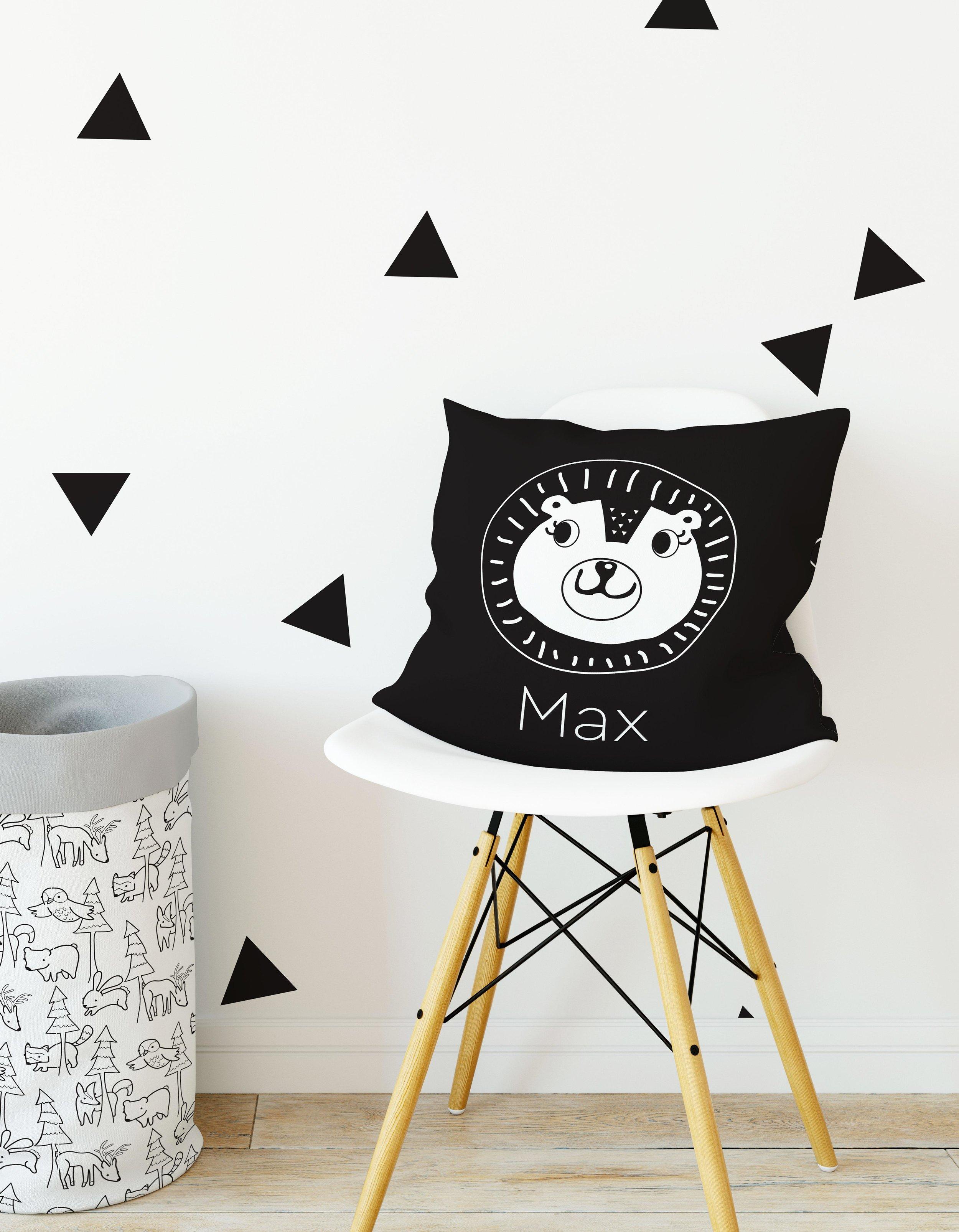 personalized pillow zoo nursery decor