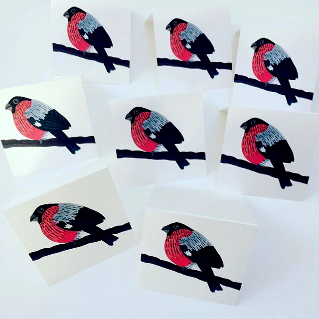 Also, some mini bullfinch cards.