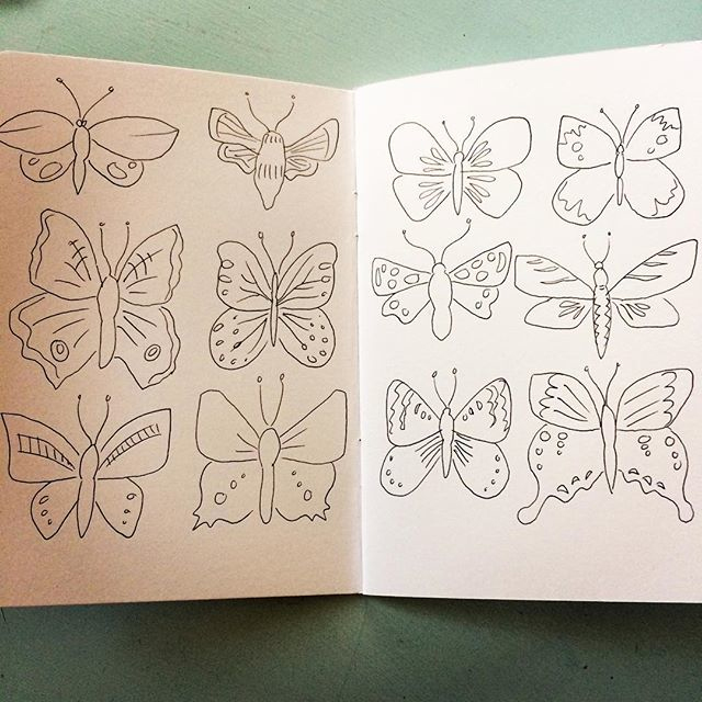I keep knocking around ideas for a book based on butterflies and/or moths. The latest pages in my sketchbook on this theme.