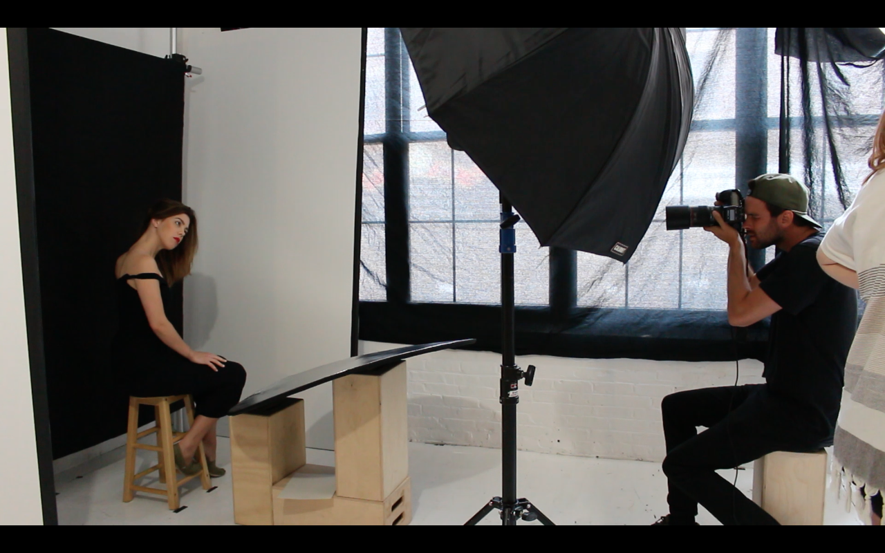 HoH's Katherine Folk-Sullivan lights up Aaron Austin's lens.