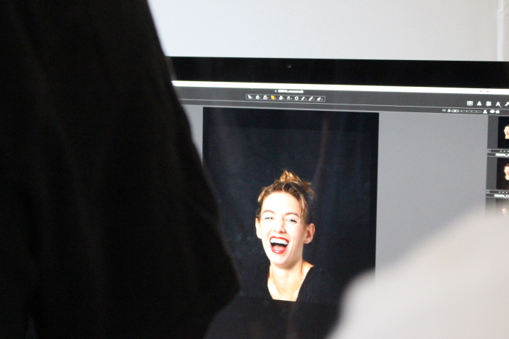 Briana, lighting up the screen.