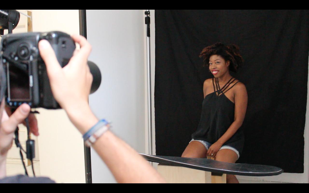 Akyiaa Wilson, working the camera like a pro.