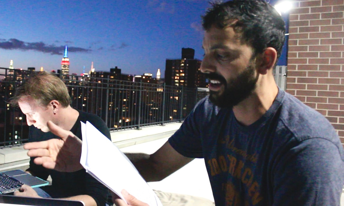 On verge of joining the cast of L.A. LIGHTS FIRE, Joel gets impromptu text interviewed by Keola Simpson.