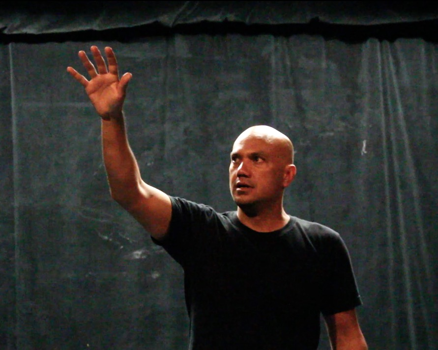 Keola Simpson back in rehearsals for the 3rd time in L.A. LIGHTS FIRE.