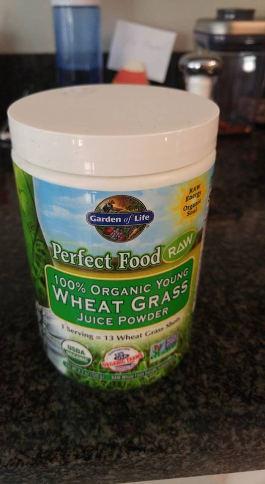 Powder I use for subsitute to wheatgrass shots